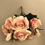 Kytice růží sv.růžová - s poupaty