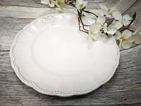 Keramický talíř velký - vintage se srdíčkem 1ks
