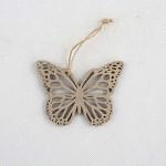 Motýl závěs - dřevěný tm.hnědý