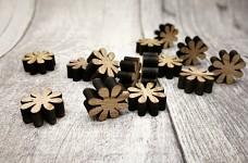 Dřevěné kytičky natur -12ks