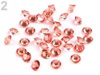 Broušené kapky rosy miniaturní - tm. lososová