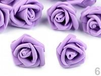 Pěnové hlavičky růží 4cm - fialové -10ks