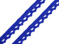 Krajka paličkovaná 12mm - tm. modrá