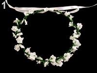 Květinový věneček pro družičku - bílý