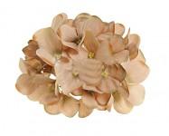Vazbový květ hortenzie - sv.hnědý malý