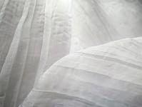 Krešovaná organza bílá 150 cm / 1m