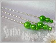 Špendlík maxi - zelené perly -1ks