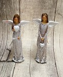 Víla mini šedá - s květinovým lemem - 13,5cm