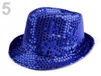 Klobouček modrý s flitry - dámská jízda