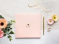 Svatební kniha hostů - pudrově růžová