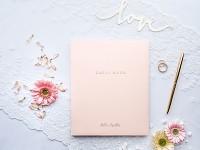 Svatební kniha hostů - pudrově růžová velká