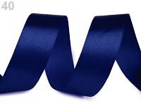 Stuha saténová 24 mm - magicky modrá - 1m