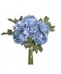 Kytička hortenzií a kamélií - modrá