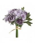 Kytička hortenzií a kamélií - fialová