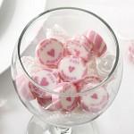 Svatební bonbon roksový - růžový Just Married - 1ks