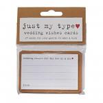 Svatební kartičky natur na vzkazy - 25ks