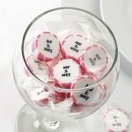 Svatební bonbon roksový - růžový Mr&Mrs -1ks