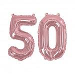 50 - fóliový nápis rose gold