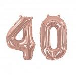 40 - fóliový nápis rose gold