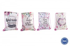 Látkový batoh (vak) - květinový vzor