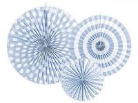 Rozety závěsné - bílo-černé - 5ks