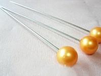 Špendlík - oranžová perla  -1ks