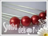 Špendlík - červená perla velká  -1ks