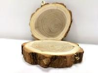 Dřevěné akátové kolečko s očkem - 1 ks