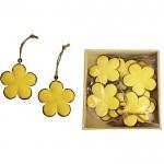 Plechový květ žlutý - závěs