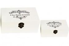Dřevěná krabička s nápisy - malá