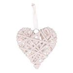 Proutěné srdce - růžové 10cm - 1ks