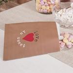 Papírový pytlík na sladkosti natur - LOVE is sweet - 25ks