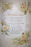 Blahopřání ke svatbě stírací  - Manželské desatero
