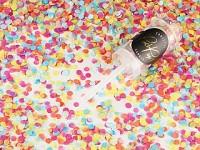 Vystřelovací konfety mini - barevná kolečka