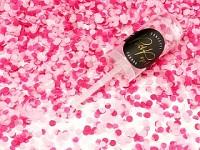 Vystřelovací konfety mini - malinové
