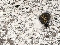 Vystřelovací konfety mini - stříbrné