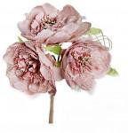 Růže s krajkou - kytice  - béžovo-šedá