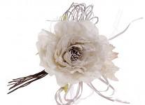 Růže s krajkou - květ - latté