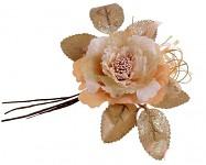 Růže s krajkou glitter - lososová