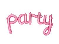 PARTY - foliový nápis - růžový