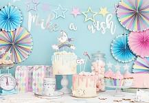 Girlanda make a wish - stříbrná