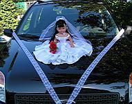 Panenka - černovláska bílá - PŮJČOVNA