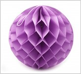 Honeycomb - koule sv.fialová - 10cm
