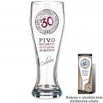 Dárková pivní sklenice - 30.narozeniny