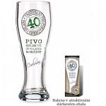 Dárková pivní sklenice - 40.narozeniny