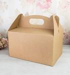 Krabička na výslužku s ouškem velká - kraft