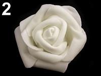 Růžička velká pěnová - bílá- 1ks