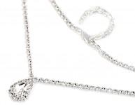 Štrasový náhrdelník - kapka velká
