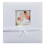 Svatební fotoalbum zasunovací - bílé s mašličkou
