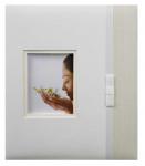 Svatební fotoalbum na fotolepky - ivory s mašličkou